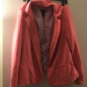 Pink Plus Size Blazer- only worn twice